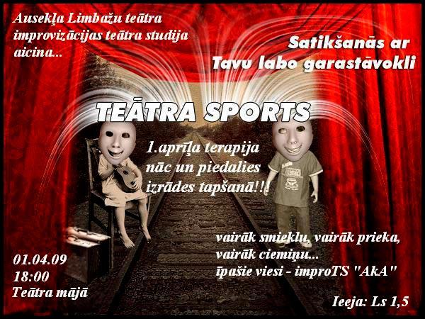 1. aprīlī Teātra mājā, Limbažos Teātra sports