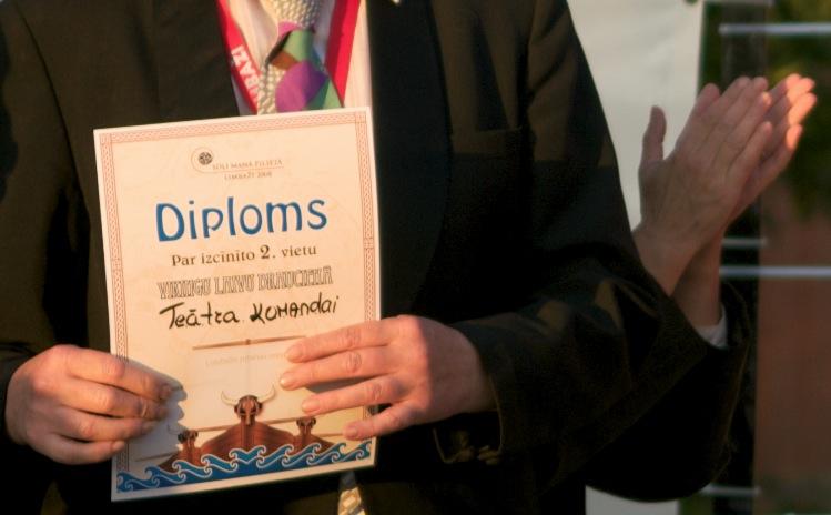 Diploms par II vietu laivu braucienā