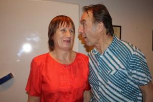 """Līga Gulbe un Juris Žūriņš izrādē """"Ar būdu uz baznīcu"""" (atjaunota pec 20 gadiem)"""