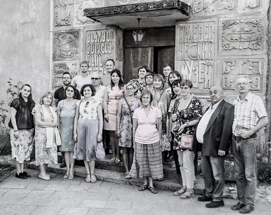 Kopā ar gruzīnu draugiem pēc Haragauli novadpētniecības muzeja apmeklējuma