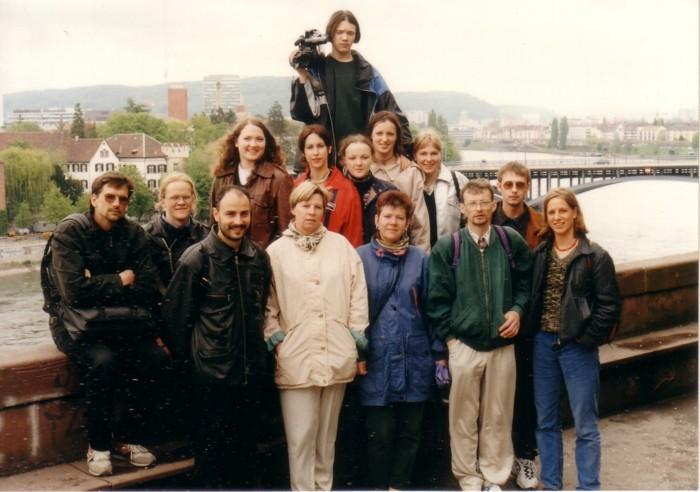 Kopā ar švieciešu kolēģiem Bāzelē